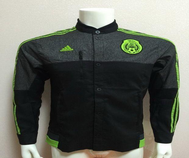 2015 2016 MEXICO Anthem Jacket Black Green | Jackets, Black