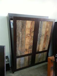 reclaimed wood murphy bed | build | Pinterest | Bed wall, Murphy