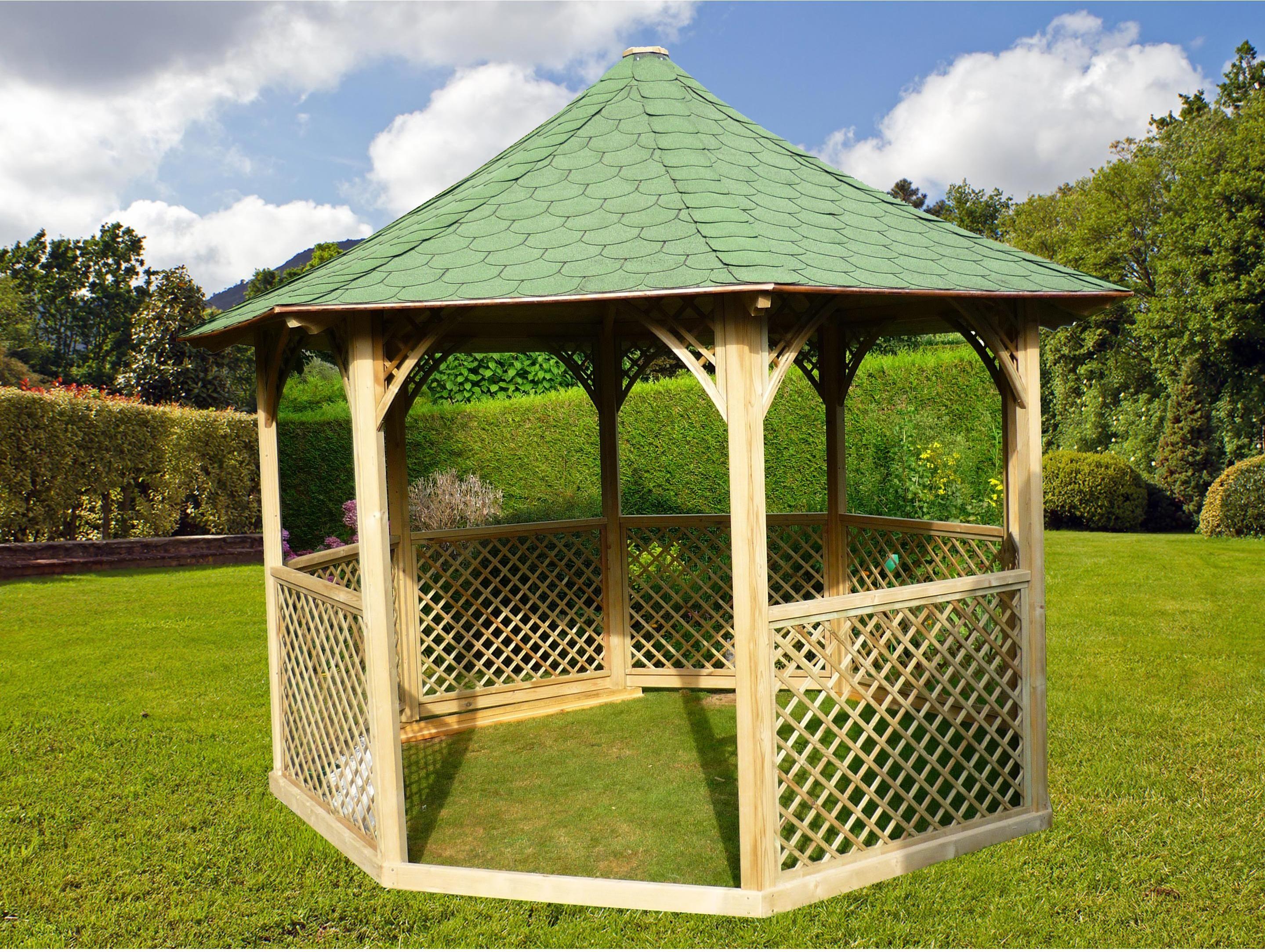 Kiosque Pour Terrasse Ou Balcon Ki C35 Bois Naturel Habrita En