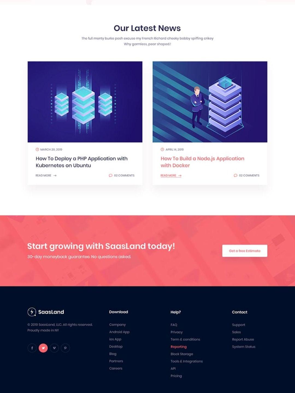 Saasland Multipurpose Wordpress Theme For Startup Business In 2020 Creative Wordpress Themes Website Inspiration Wordpress Theme Design