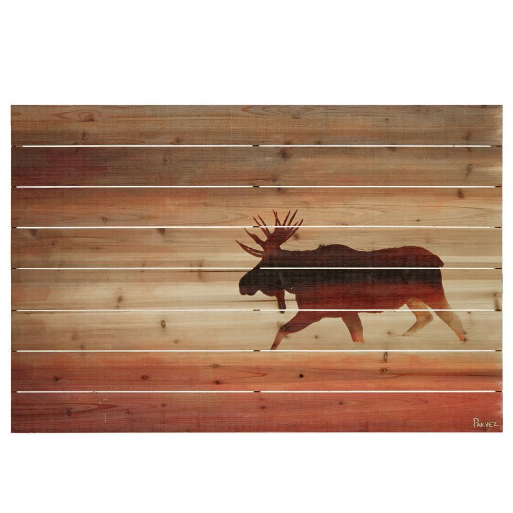 Wood wall art moosewall artwall decorbouclair hollis