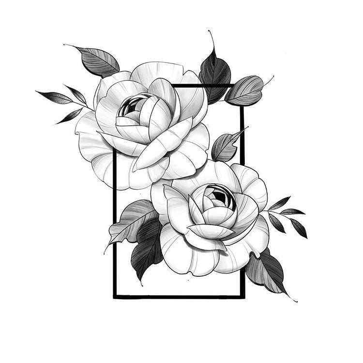 Tren Instagram Added A Frame Around These Bbs Floral Flower Floraltattoo Flowert Floral Tattoo Design Body Art Tattoos Floral Tattoo