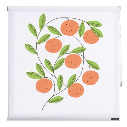 estores cocina fruits de color naranjas