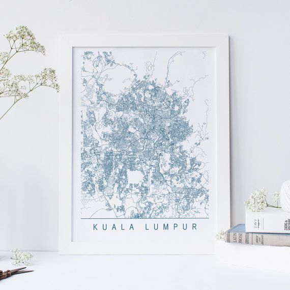 Kuala lumpur map high quality giclee print minimalist kuala kuala lumpur map high quality giclee print minimalist kuala lumpur art print customizable gumiabroncs Images