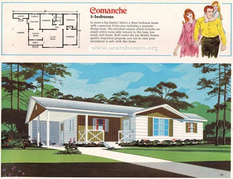 Jim Walter Homes A Peek Inside The 1971 Catalog Sears Modern Homes Sims House Plans Modern House House Floor Plans