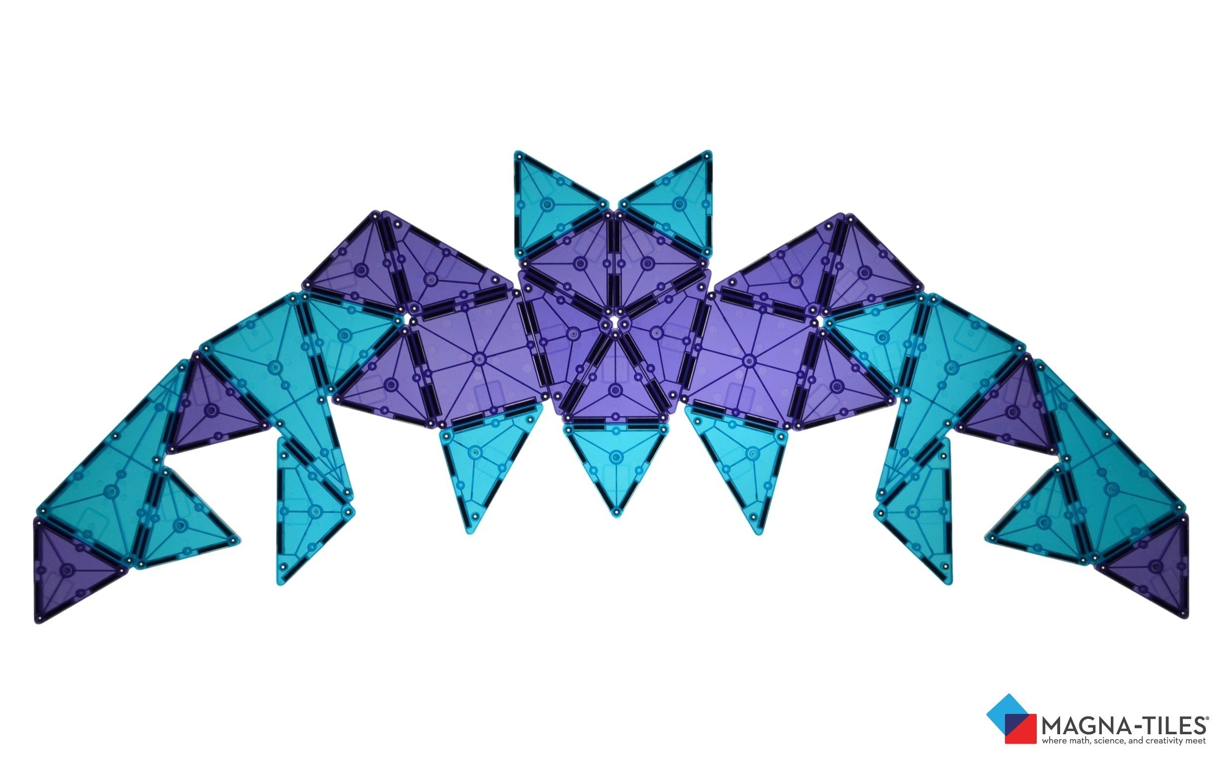 Make A Flat Pattern Of Magna Tiles Bat Do You See Line Symmetry