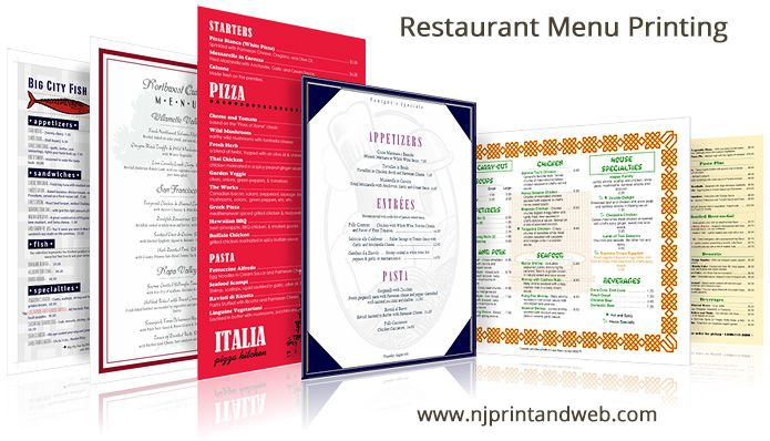 Restaurant Menu Prinitng - Make Menus Online - Quick  EASY Instant