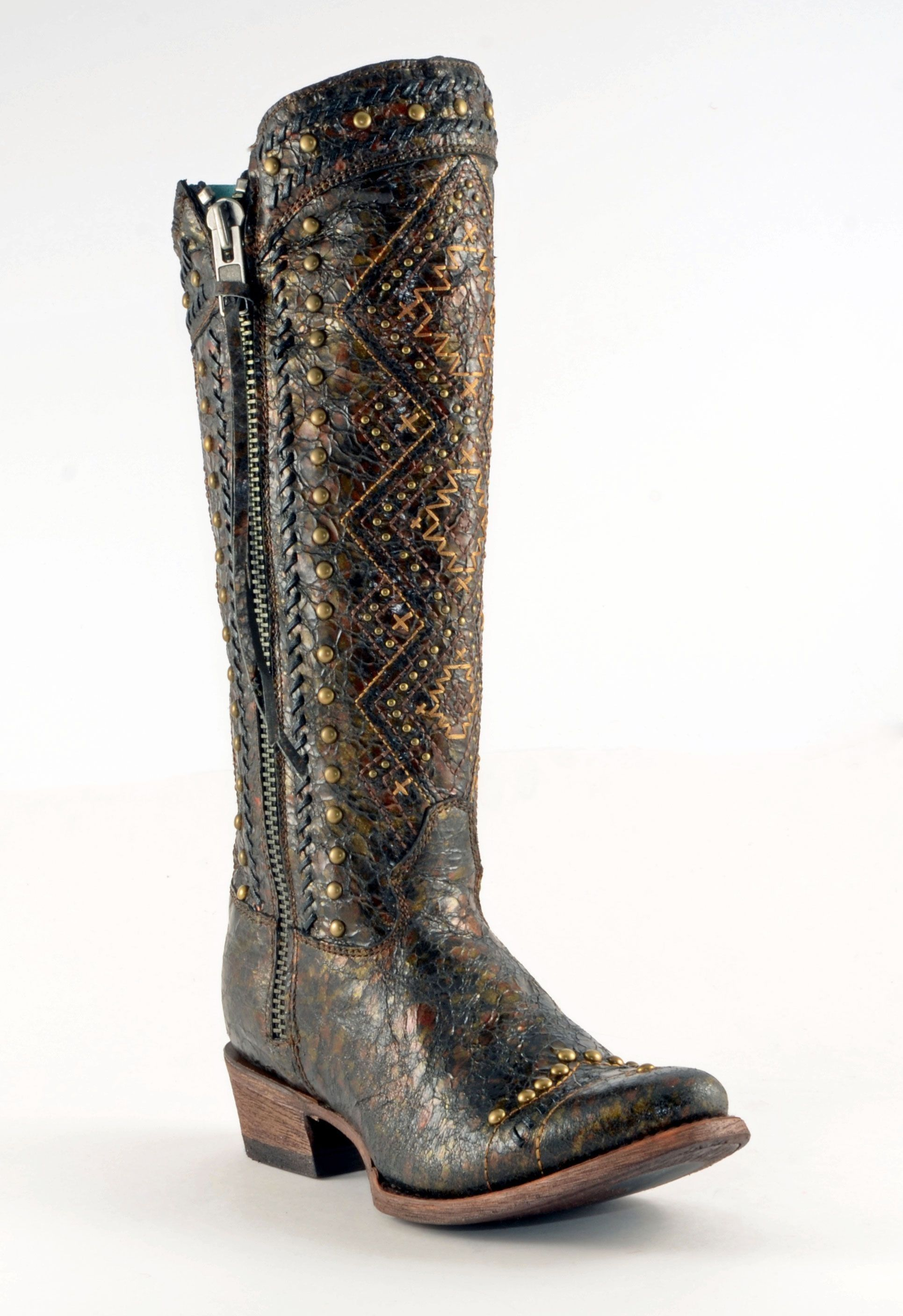 bc01b146efe SALE Corral® Ladies' Ethnic Embroidered Lace Boots | Corral® Boots ...