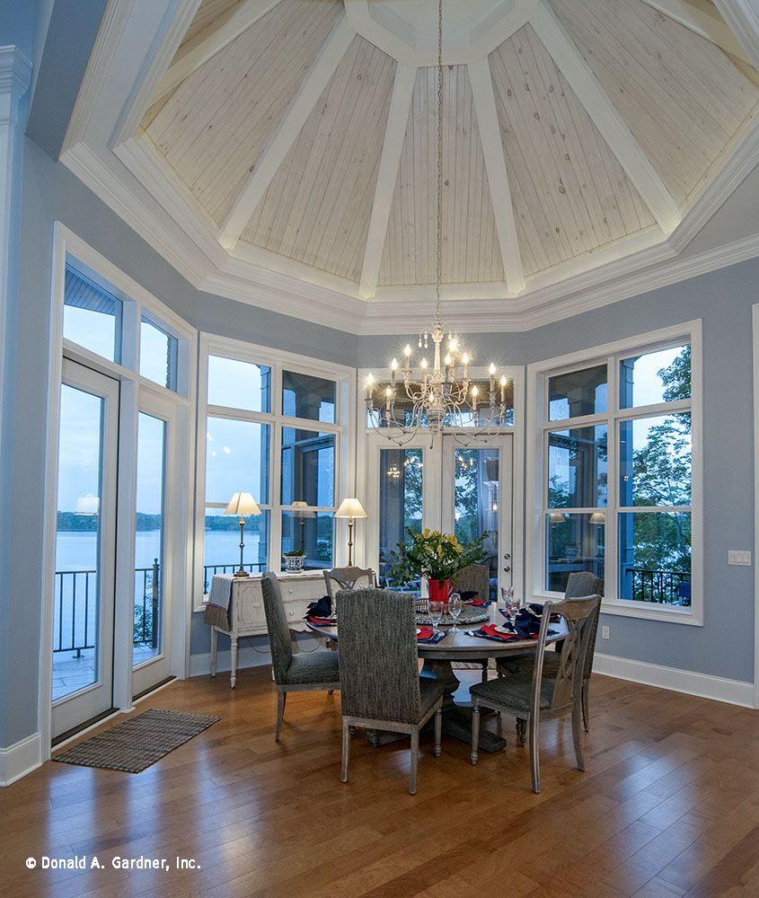 Ranch House Addition Ideas: A Spectacular Octagonal Tray Ceiling Crowns This Dining