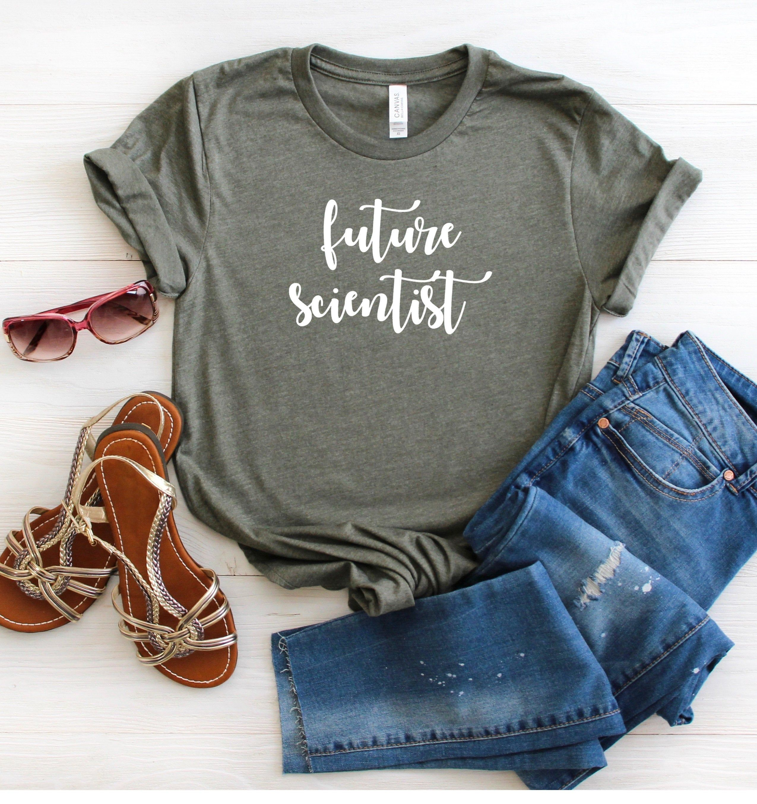 Future Scientist Shirt Love Science Shirt Love Math Shirt I'm Smart Tee Graphic Tee Funny Shirt Mom TShirt Cute Shirt ◾️ Bella + Canvas T Shirt - Soft Tee ◾️ Womens/Mens Unisex T Shirt ◾️ The T Shirt is dual-blend exceptionally soft short sleeve, crew neck tee. ◾️ 52% combed and ringspun cotton & 48% polyester with a more modern, unisex fit. ◾️ Athletic Heather Gray is 90% combed and ringspun cotton & 10% polyester. ◾️ {Sleeves rolled up in picture} Please refer to size guide. These are