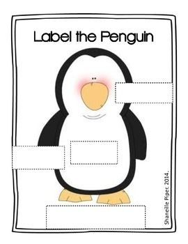 simple penguin body part labeling worksheet for students to practice labeling writing skills. Black Bedroom Furniture Sets. Home Design Ideas