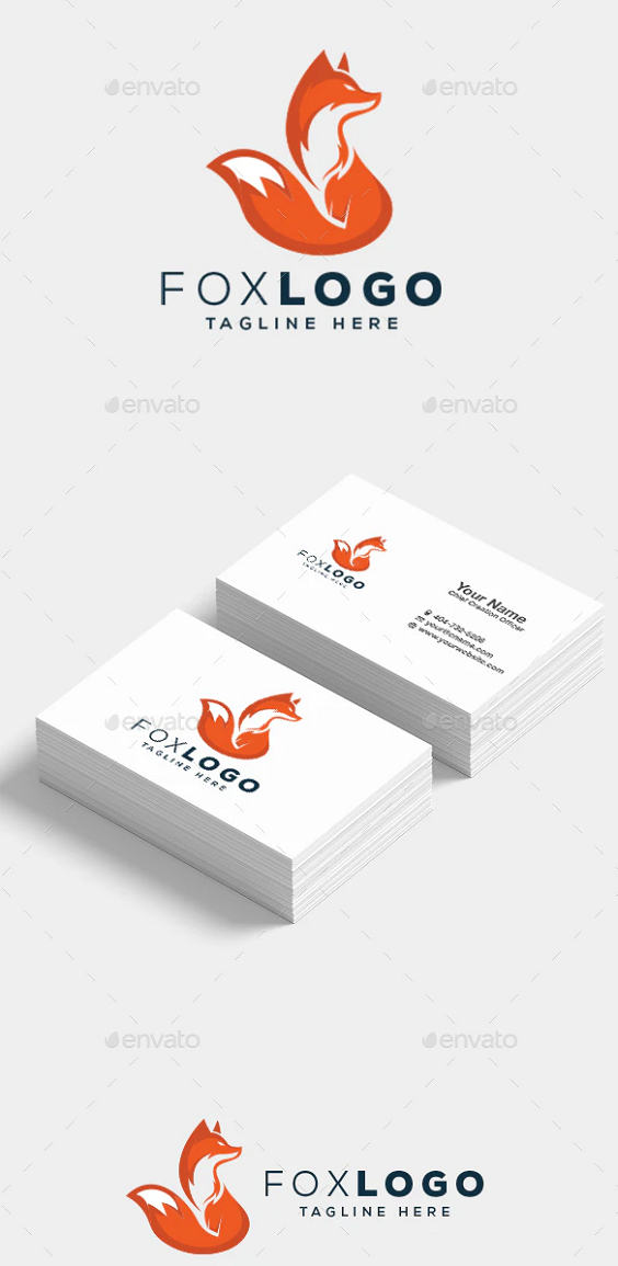 Fox Logo Fox Logo Design Fox Logo Logo Design Template