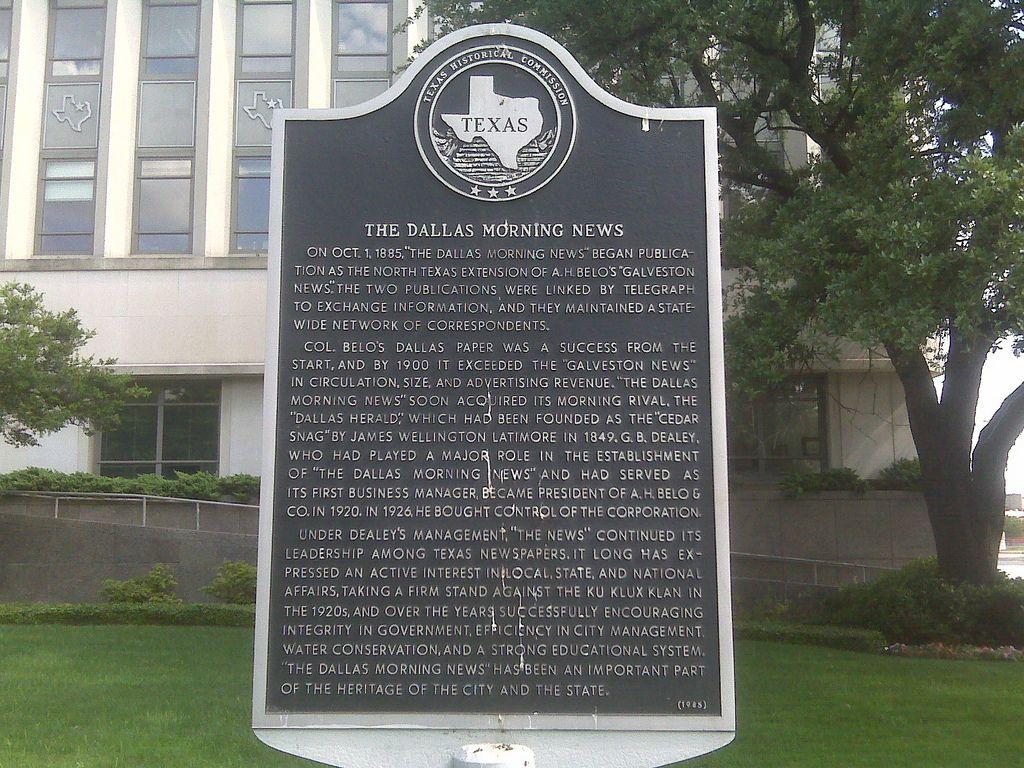 "On Oct. 1, 1885, ""The Dallas Morning News"" began"