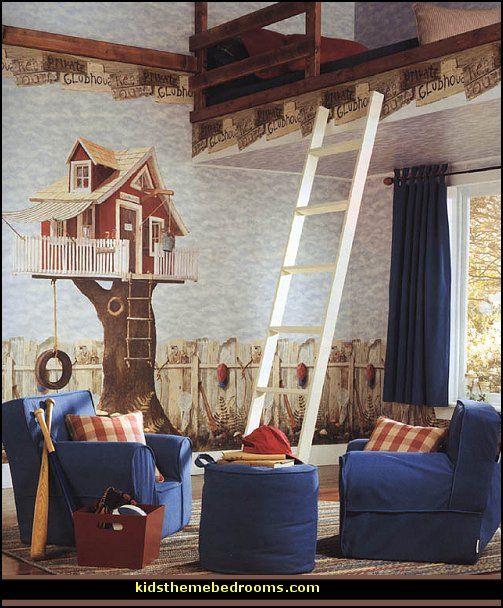 Fun Back Yard Tree House Theme Bedroom Decorating Ideas