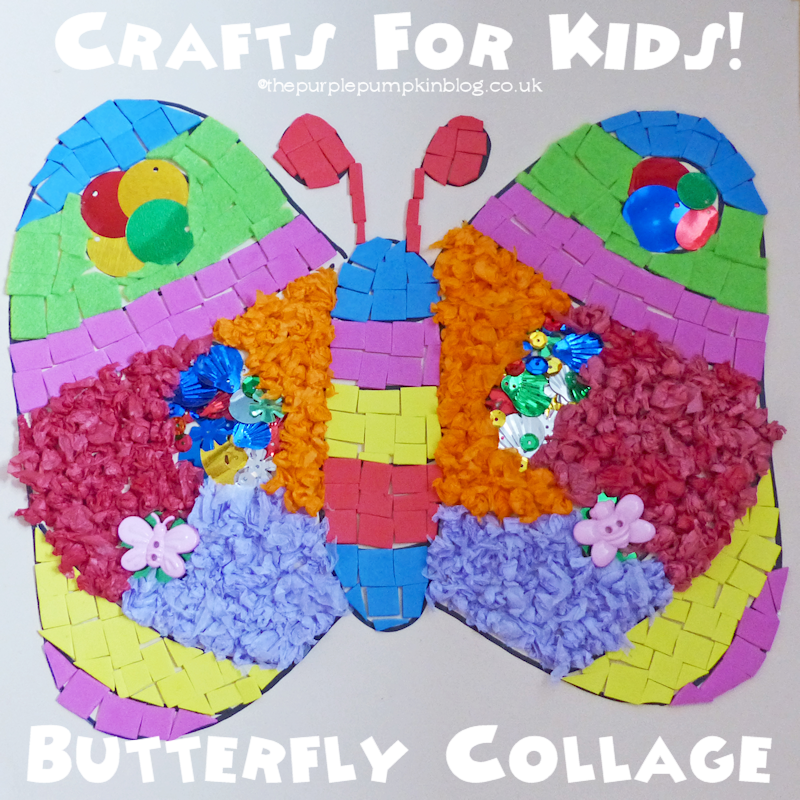 Cute Butterfly Collage - #Crafts for Kids!