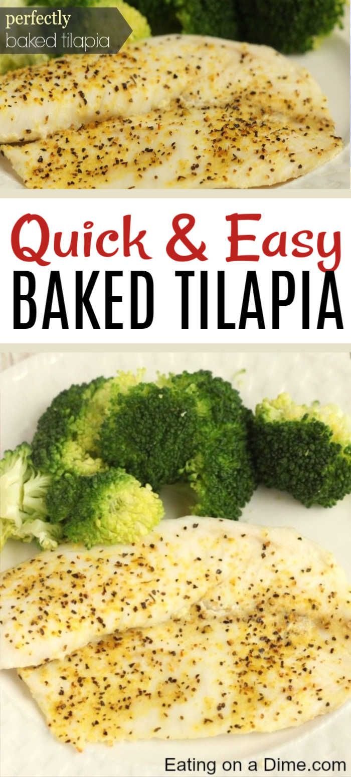 Easy Baked Tilapia Recipe - How to cook tilapia in oven