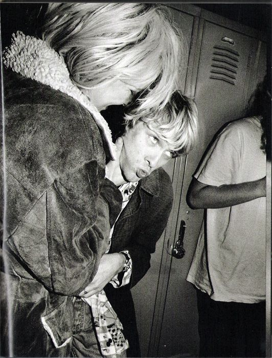 "Courtney and Kurt photographed by Charles Peterson. Scanned from the ""Touch Me Im Sick"" book."