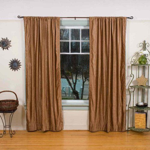 Taupe Velvet Curtain / Drapes / Panels 43 X 84 Inches ...