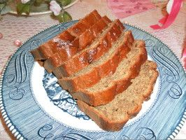 Kate S Moistest Peanut Butter Sour Cream Banana Bread Ever Recipe Food Com Recipe Sour Cream Banana Bread Peanut Butter Banana Muffins Peanut Butter Banana Bread