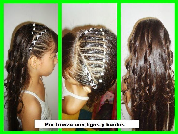 Trenza con ligas y bucles album peinados ni as - Trenzas para nina ...