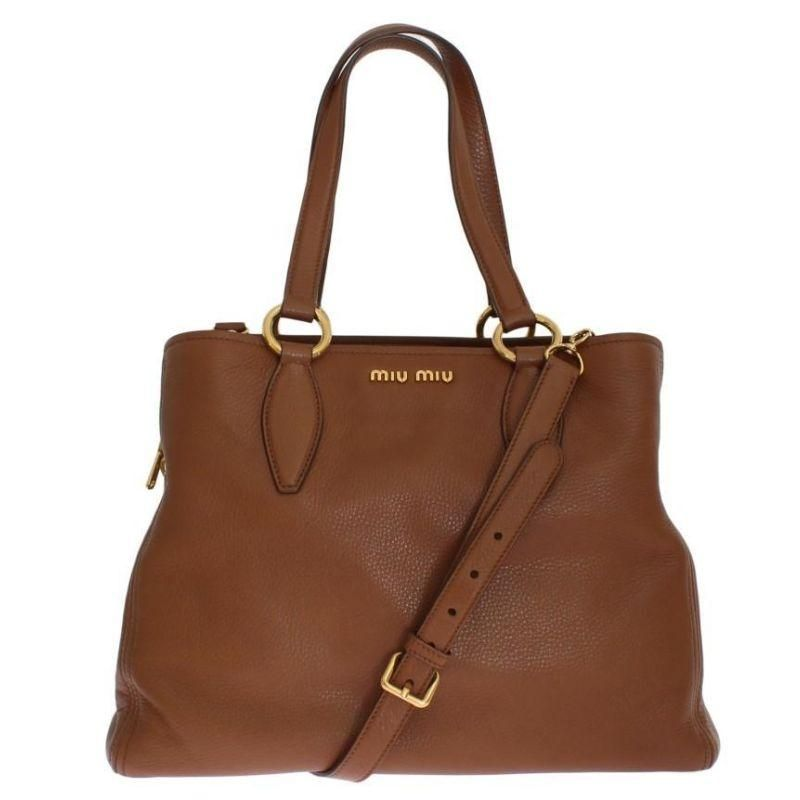 Miu Miu Vitello Calf Leather Handbag  92e51547730e8