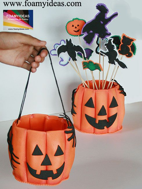 2 in 1 would you like to make such a funny pumpkin basket for Como hacer una mesa de centro