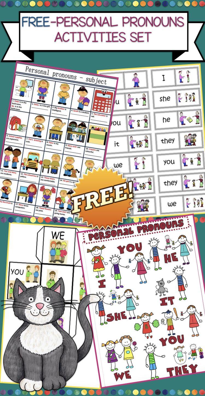 Free Personal Pronoun Set Personal Pronouns Pronoun Activities Free Pronoun Activities [ 1450 x 750 Pixel ]