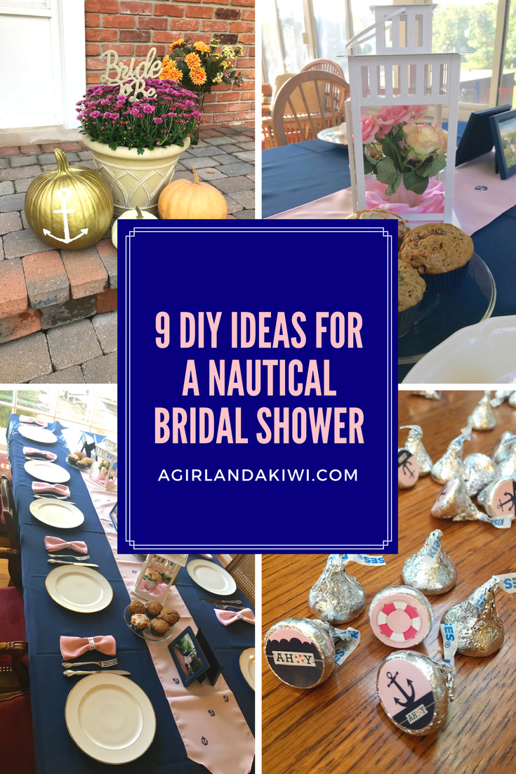 9 diy ideas for a nautical bridal shower a girl and a kiwi