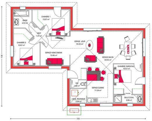 mod le de maison villa hortense retrouvez tous les types de maison vendre en france sur. Black Bedroom Furniture Sets. Home Design Ideas