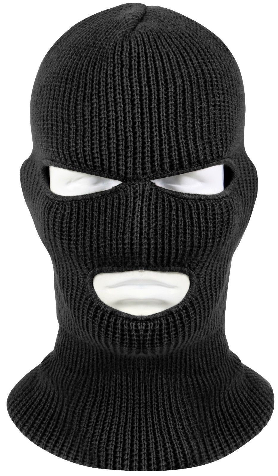c2c4755da87 3 Hole Black Face Mask Ski Mask Winter Cap Balaclava Hood Army Tactical Mask