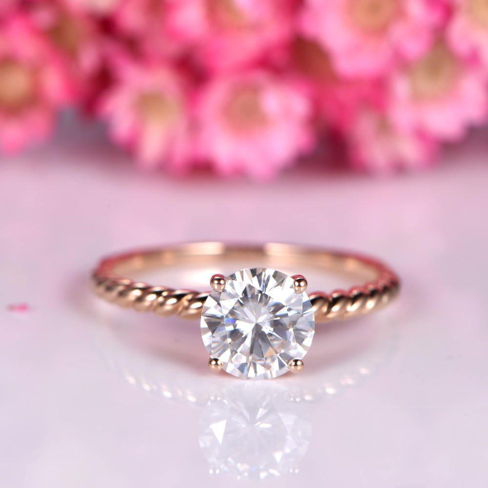 Charles & Colvard moissanite engagement ring 7mm round cut ...
