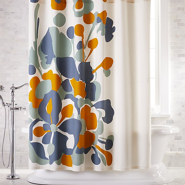 Gemma Flower Shower Curtain Modern Shower Curtains Flower