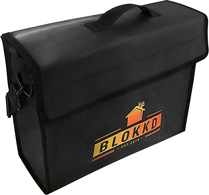 Security Fireproof Large Cash Fire Resistant Storage Lock Box Home File Safety