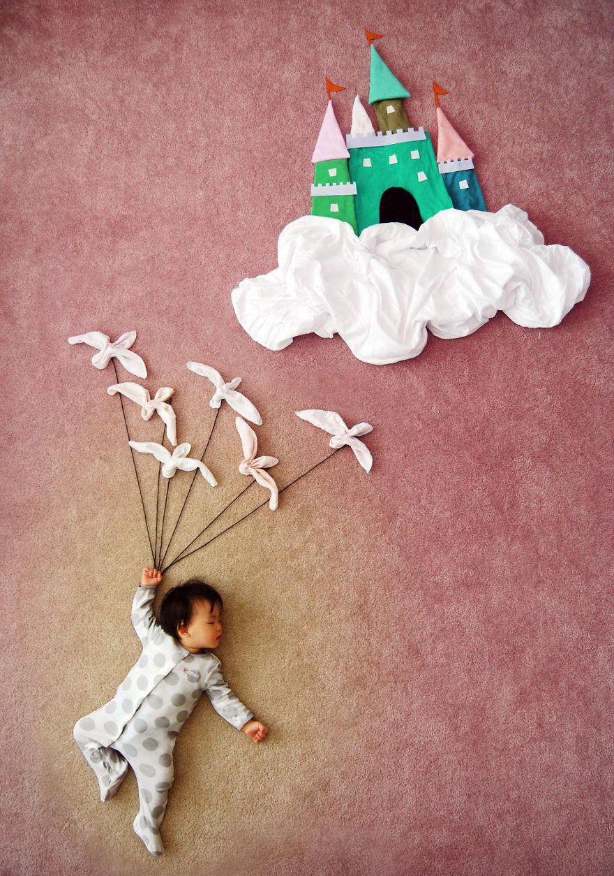 Una mamma creativa trasforma i sonnellini di suo figlio in arte - OLTREUOMO