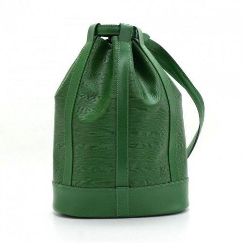 2aeb16d83ba41 Louis Vuitton Randonee Green Epi Leather Large Shoulder Bag | Bag ...
