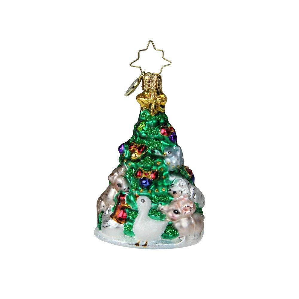 Christmas Tree Hanging Bauble Decorations 12 x Clear Multicolour 60mm