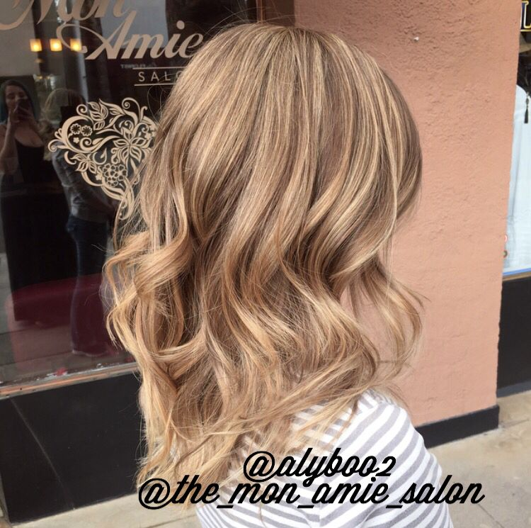 Blended Blonde Highlights With Balayage Ends Hair By Aly Tompkins Mon Amie Salon Redlands Ca Blonde Highlights Hair Styles Long Hair Styles