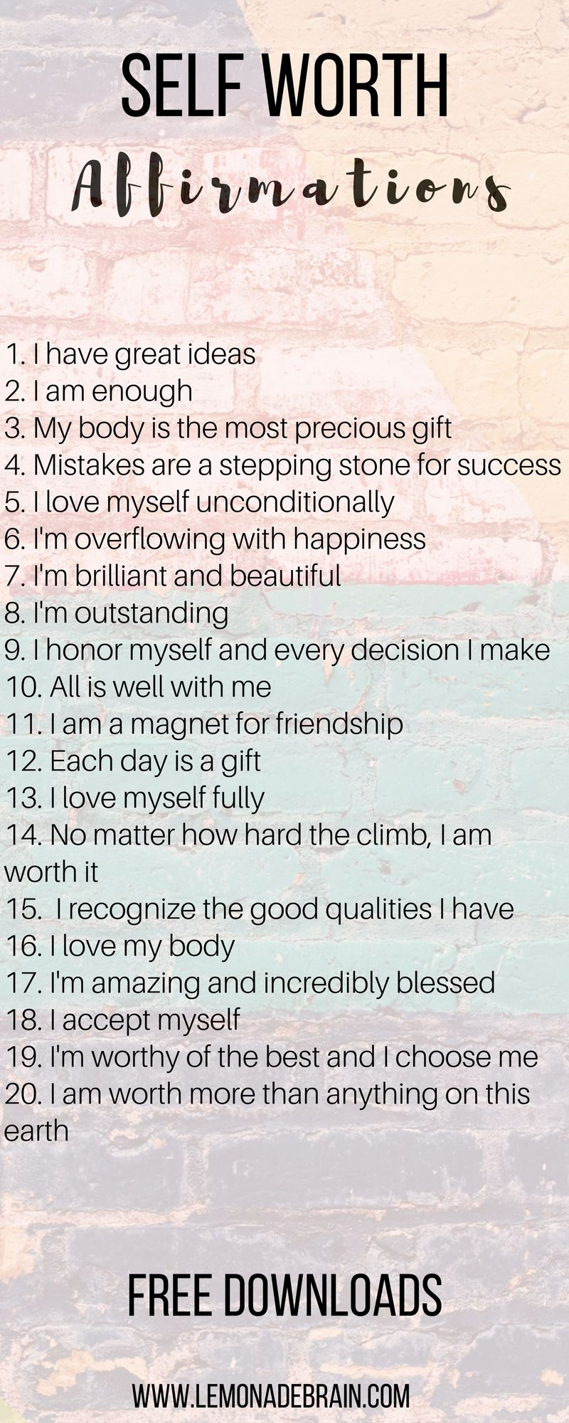 Healthy Body Affirmations: Affirmations that changed my life