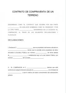 Contrato De Compraventa De Terreno Ejemplos Y Formatos Word Y Pdf Para Imprimir Contrato De Compraventa Contrato Autoevaluacion