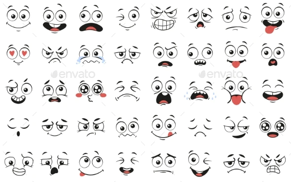 Cartoon Faces Expressive Eyes And Mouth Smiling Cartoon Faces Cartoon Faces Expressions Smile Drawing