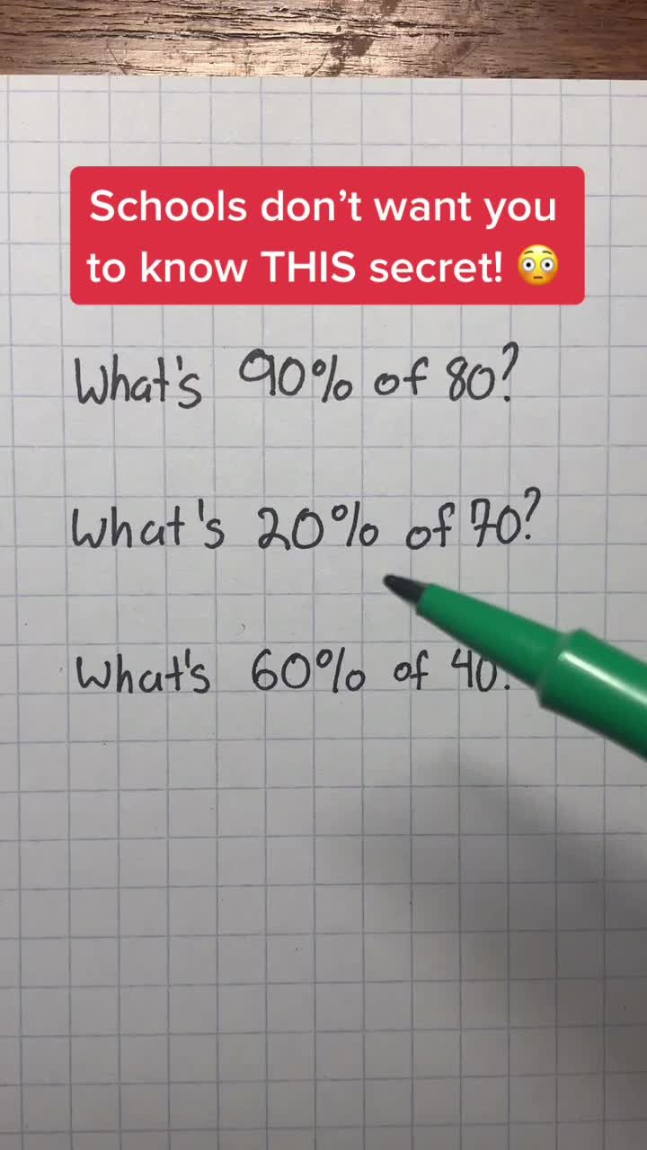 Let this secret be known to all of students! #math
