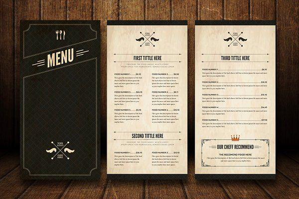 Elegant Food Menu 5 | Food menu, Menu and Food menu template