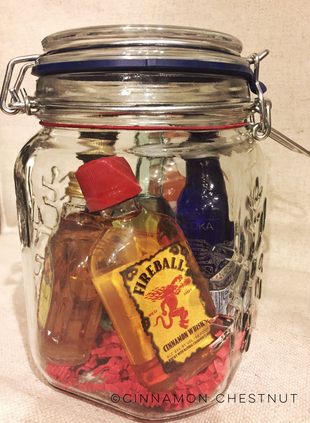 Mini Bar In A Jar Mini Liquor Bottles Jar Fireball Bottle