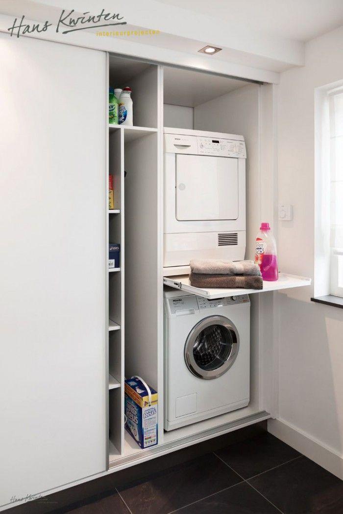 mooi weg gewerkt achter schuifdeuren  세탁실  Pinterest  세탁실, 빨래방 ...