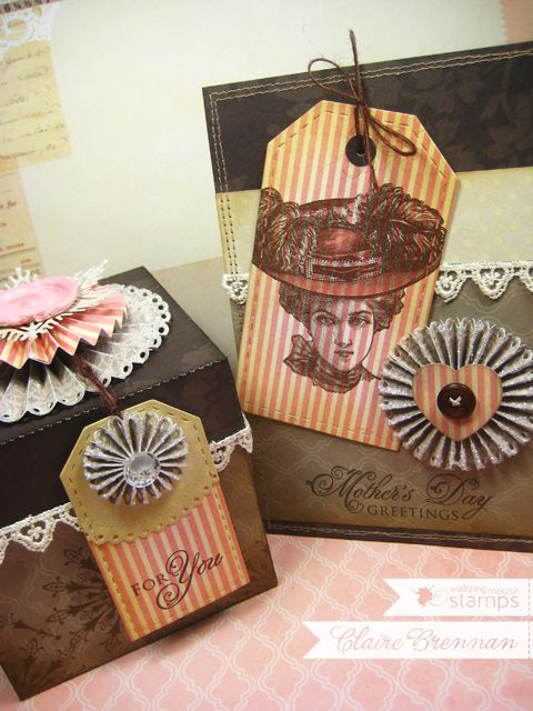 Project and Freebie: Vintage Style Box with Matching Card