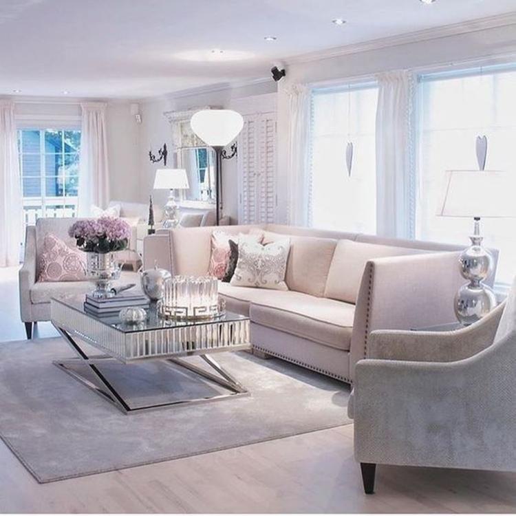 57 Cozy Feminine Living Rooms Decoration Ideas Stili Gostinoj