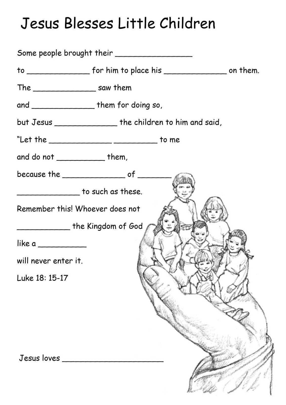 Bible Kids Worksheets