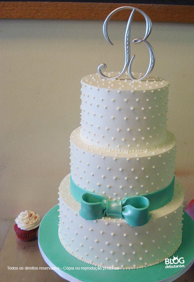 6b89cbf41af0a bolo-azul tiffany e branco   IDEIAS   Pinterest   Cake, Wedding ...