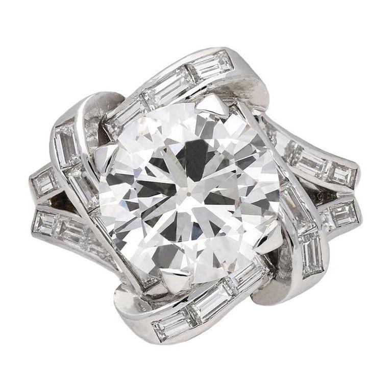 Mauboussin Diamond Cluster Ring French Circa 1940 In 2020 Diamond Cluster Ring 1920s Engagement Ring Vintage Cluster Ring
