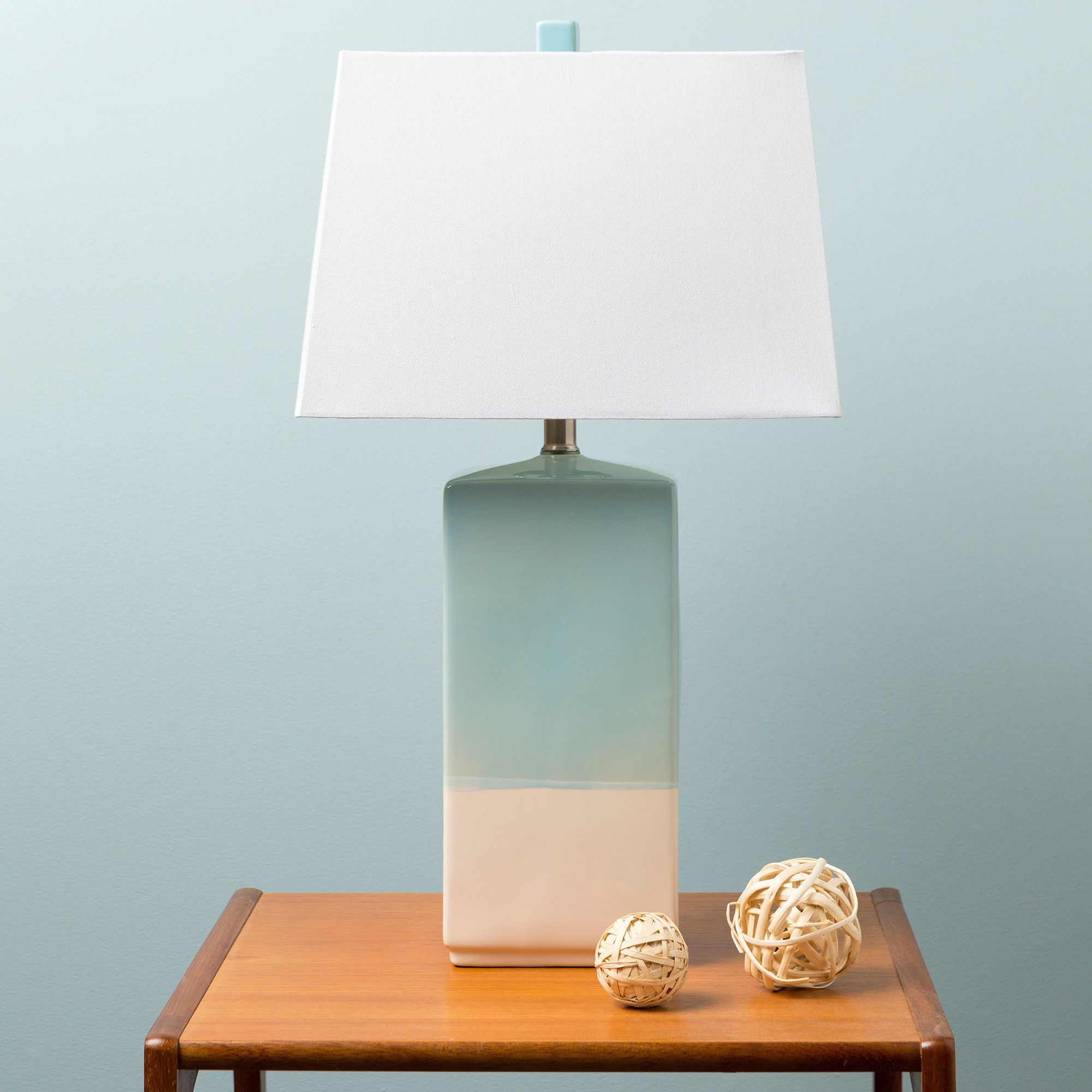 Add A Stylish Touch With This 245 Inch High Linen Shaded Rustic 3 Way Switch Light Lamp Its Ceramic Base Glazing Makes Chic In Any Room The Cord On Socket Is